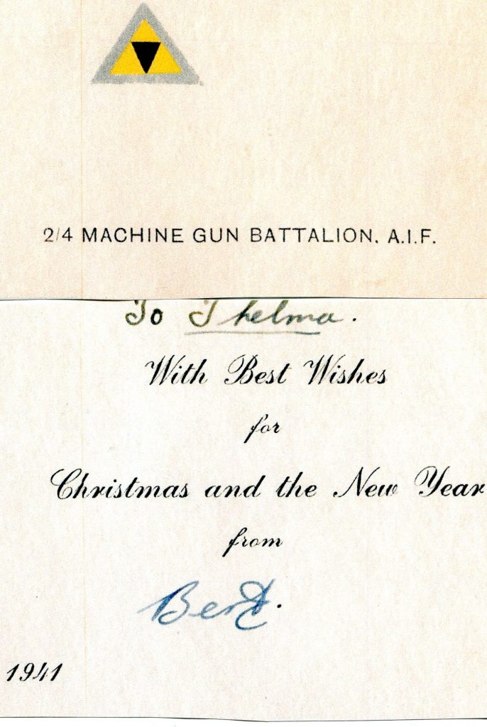 2/4th Christmas Card 1941