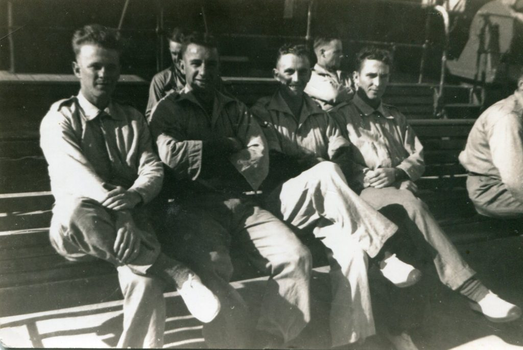 Left to right - Bert Norton, Jim Dore, Johnny Gilmour, Clarrie McDonald