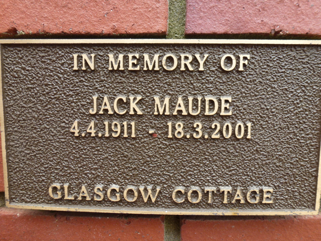Jack Maude, Fairbridge Remembrance Wall