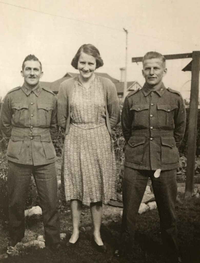 Wally Worth, unknown lady and Harry Pickett