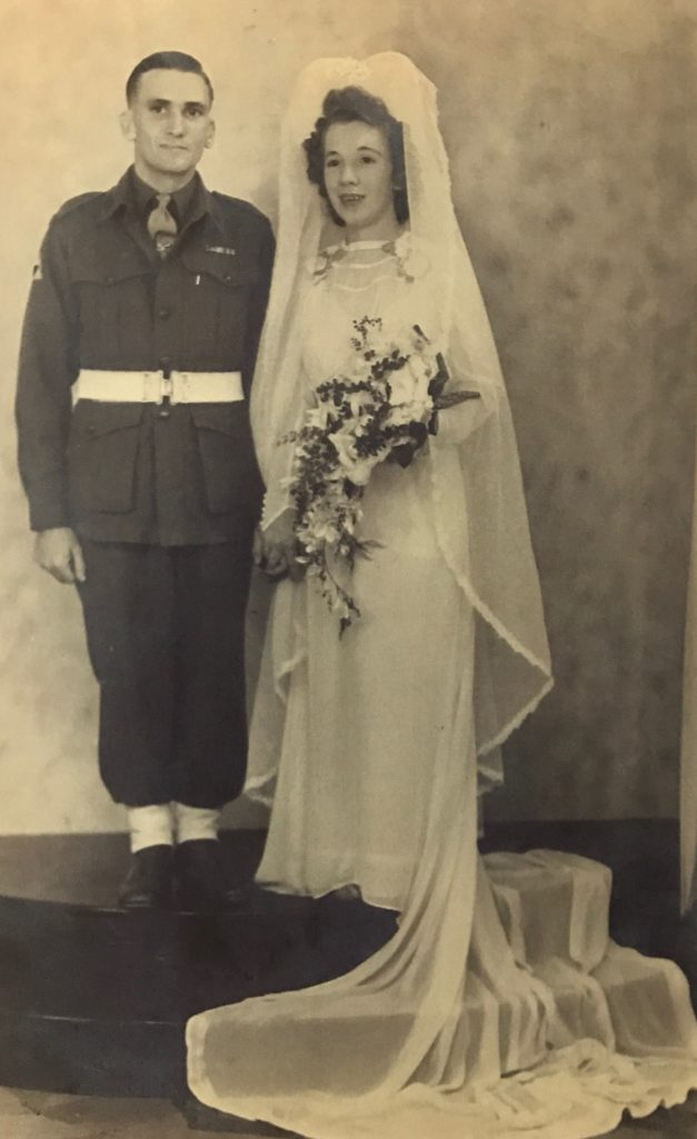 Wally Winter and bride