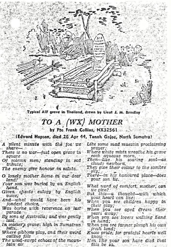 To a (WX) Mother by Pte Frank Collins