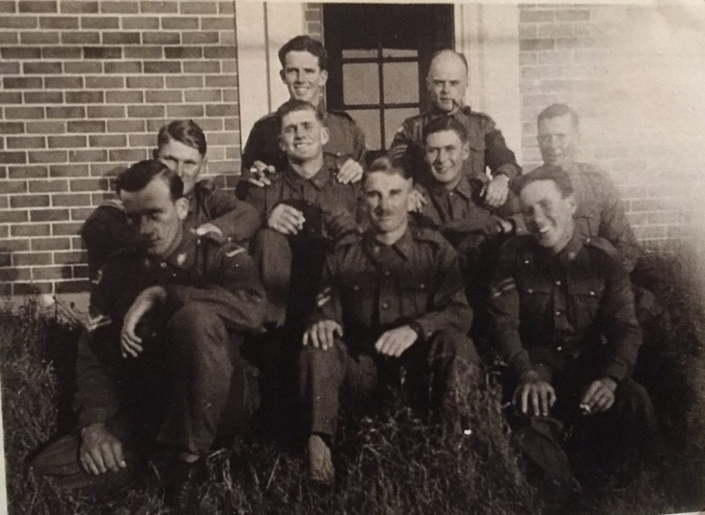 Jim Clancy second row centre. Number 2 potential officers course A>I>F November 1940-41