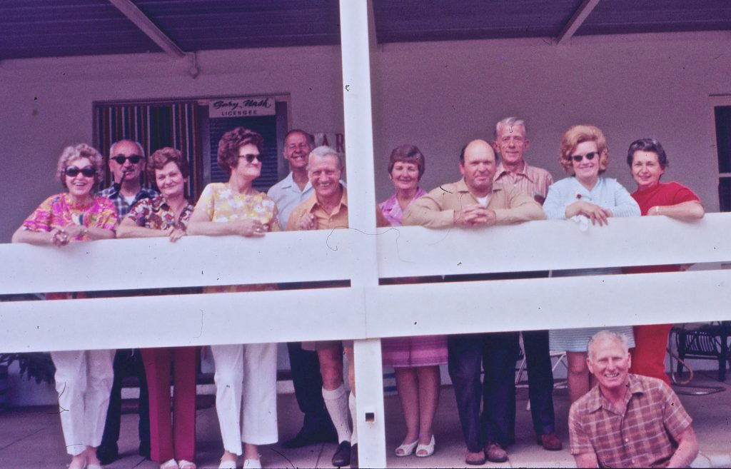 2/4th social event. Ron Badock standing 5th from right.
