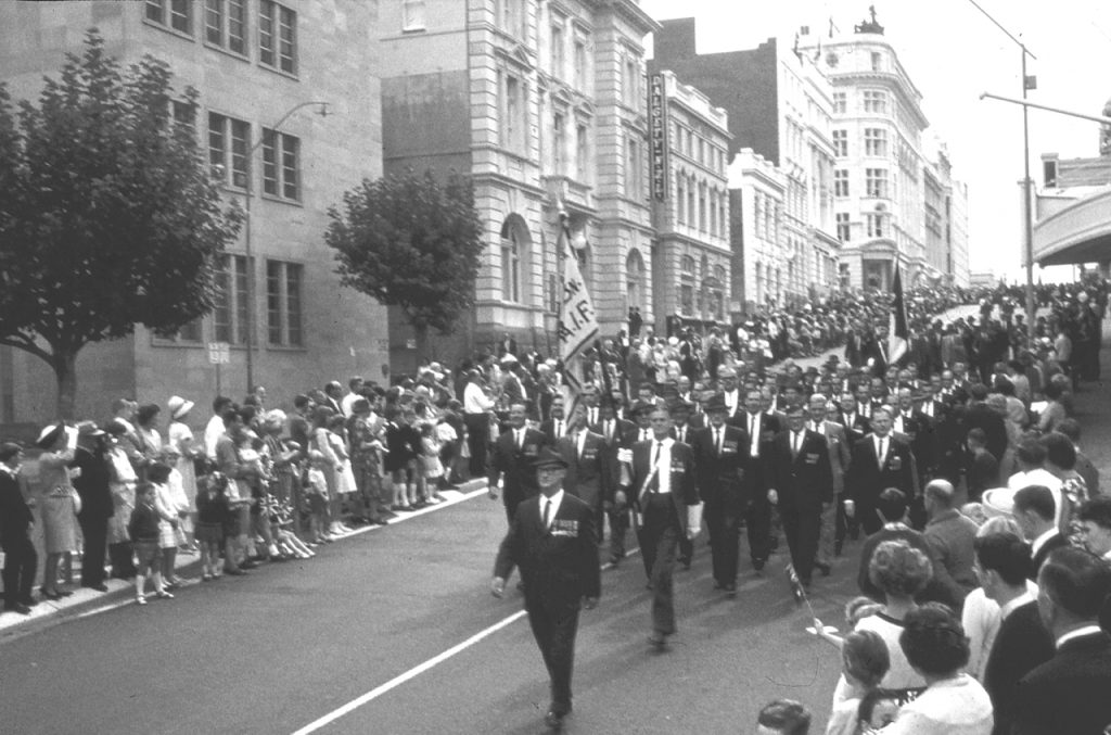 ridgewell BW march with flag