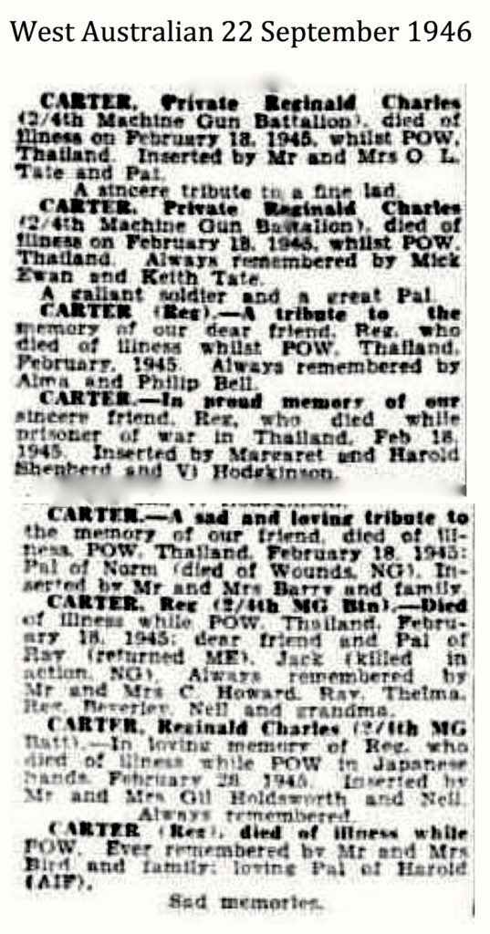 Carter West Australian 22 September 1946