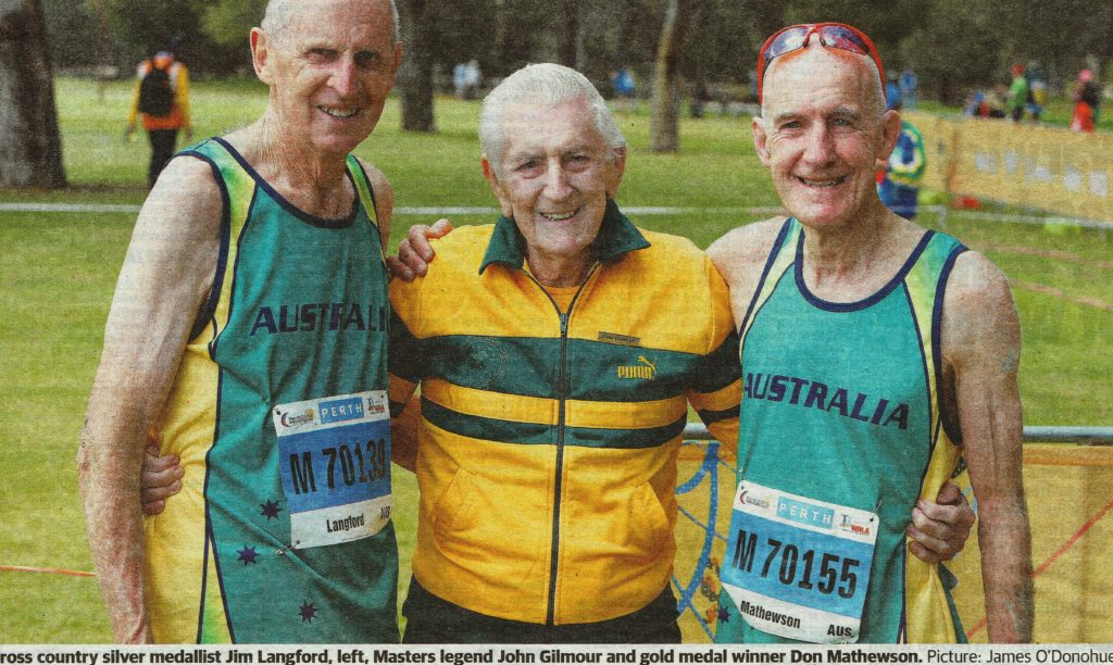 L Cpl John Gilmour WX8622 November 2016 World Masters Athletic Championships