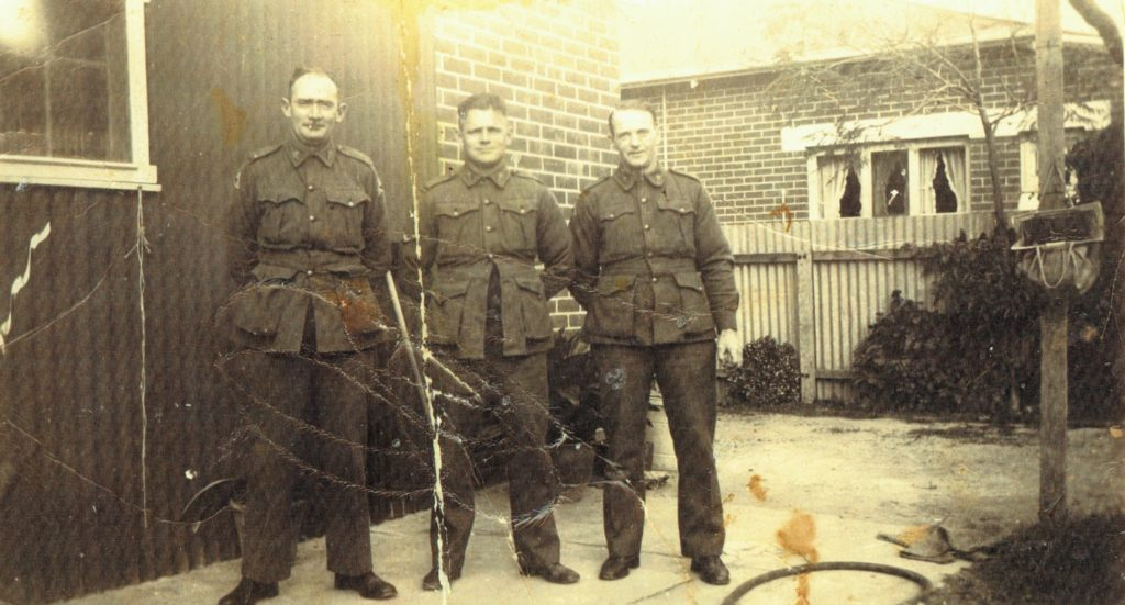 L Cpl Reginald Harry Stewart WX7324 in centre