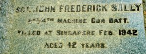 Sgt John Frederick Solly WX7127 On Mothers headstone, Katanning
