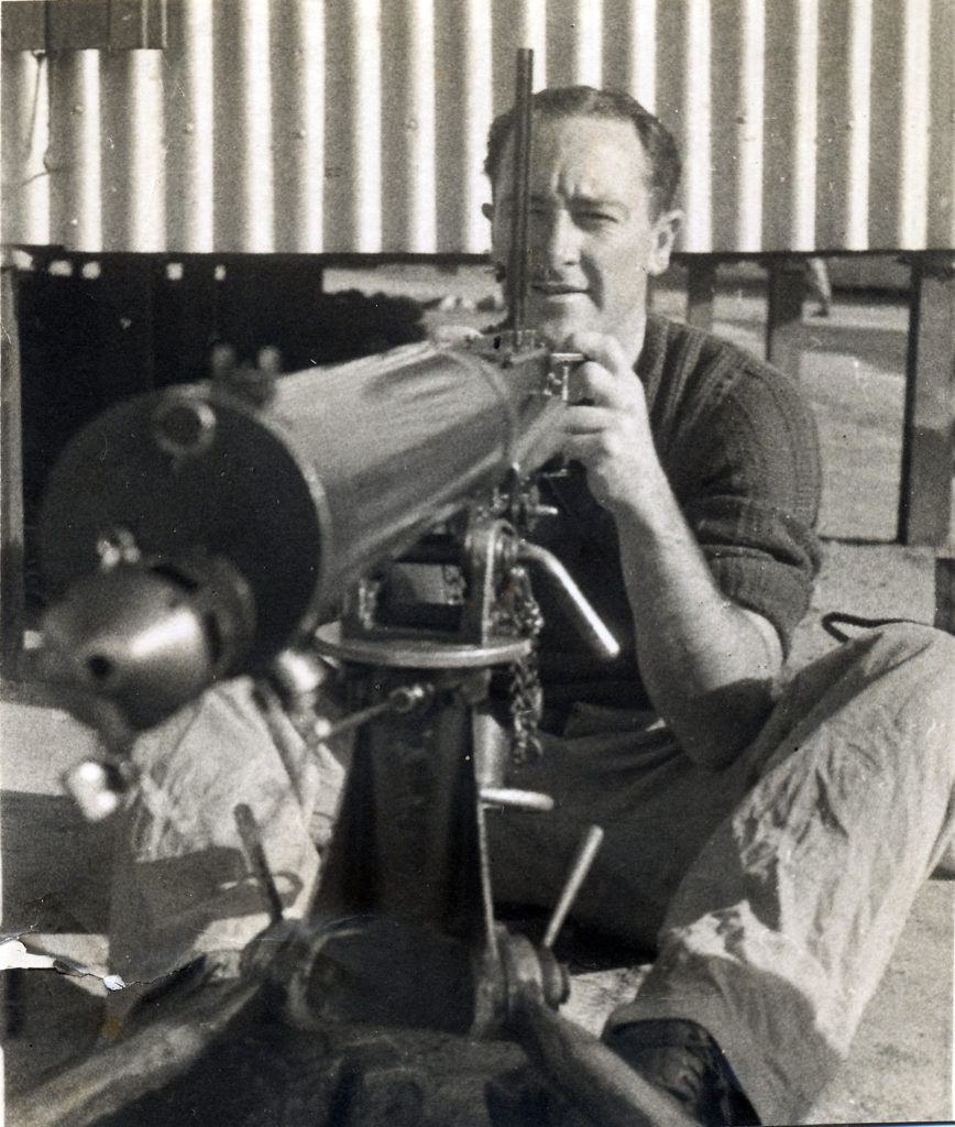 Laurie McGrath and Vickers Machine Gun