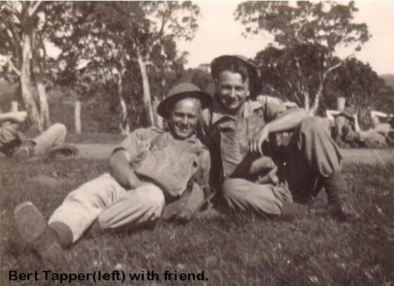 Pte A.L.(Bert) Tapper with friend 001