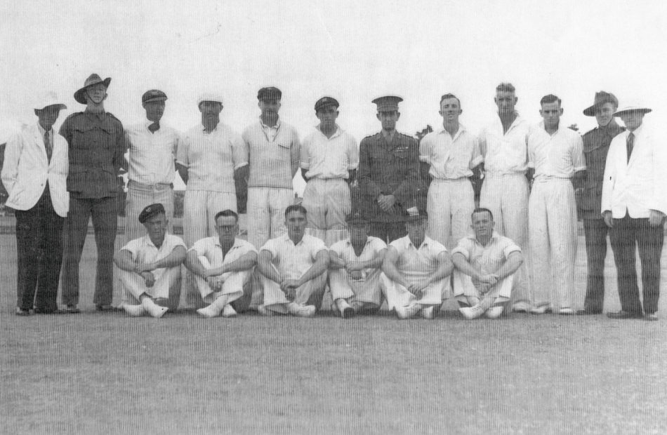 2/4th Cricket Team - Property of Geoff MacDonald, nephew of Lindsay Murray MacDonald, standing 2rd from Right.