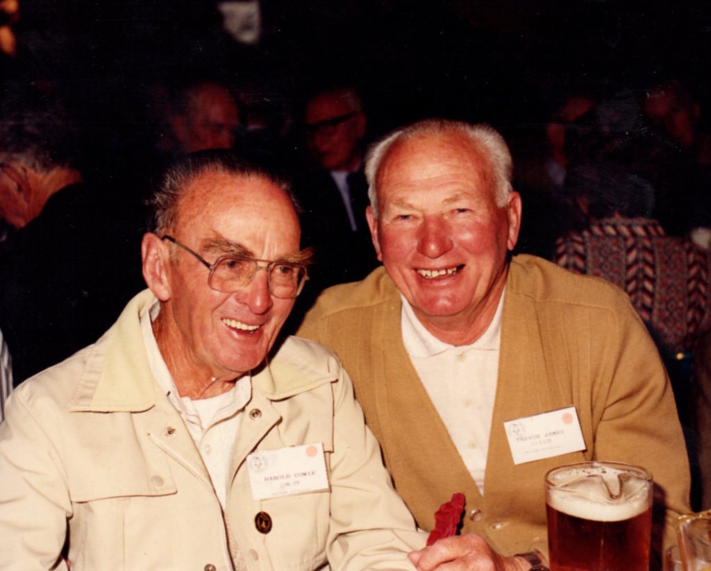Harold Cowie and Trevor James. Launceston - 1990