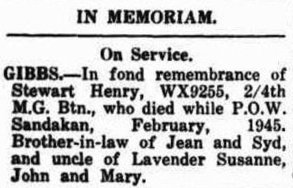 Gibbs Stewart Henry Albany Advertiser (WA _ 1897 - 1950), Monday 25 February 1946, page 1