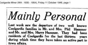 Hammer Coolgardie P1 Friday 11 October 1946, page 1