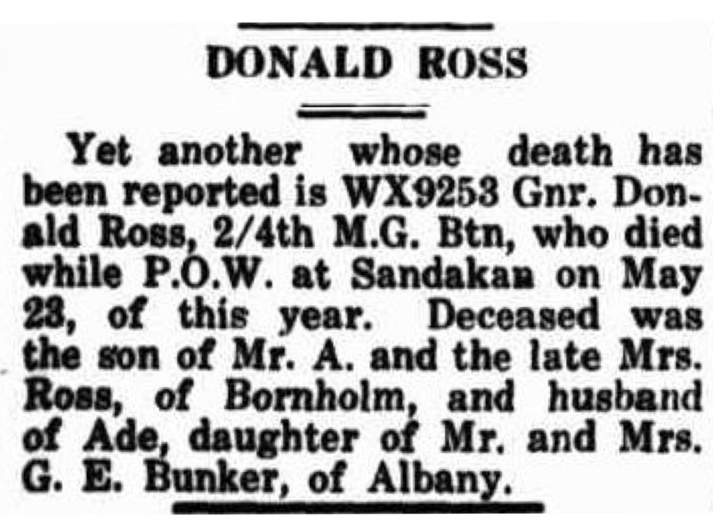 Ross Donald Albany Advertiser (WA _ 1897 - 1950), Monday 5 November 1945, page 8
