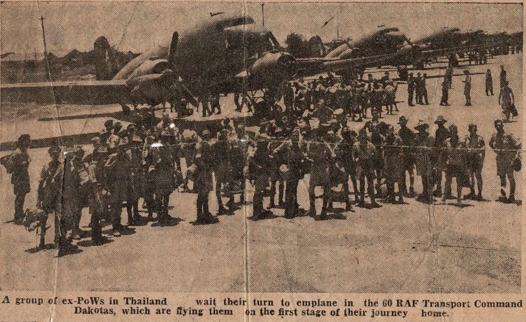 Soldiers about to enplane in Thailand. This photo was with John's papers and may include him.