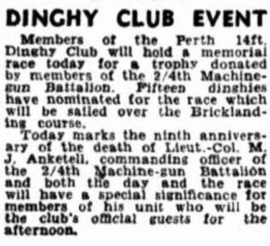 Dinghy Club Event 17 Feb 1951 Anketell Cup