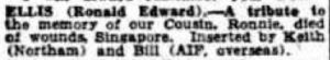 Ellis Ron, West Australian Feb 1943
